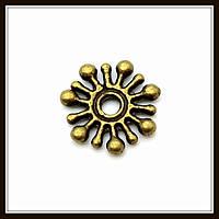 Спейсер, рондель метал., бронза (диам. 1 см) 50 шт в уп.