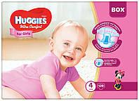 Подгузники Huggies Ultra Comfort Box 4 для девочек 128 шт.