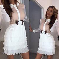 Платье женское очень стильное ,ткань лакост, креп-жоржет, цвет только такой вш №817