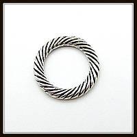 Спейсер, рондель метал., серебро (диам. 1,3 см) 25 шт в уп.