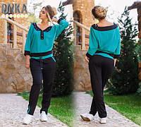 Костюм спортивный двойка, ткань турецкая двунитка, 2 расцветки ,супер качество , фото реал дг № 718-300