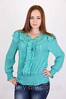 Женская блуза  из хлопка с длинным рукавом