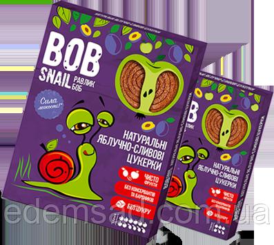 Натуральные конфеты BobSnail с яблоком и сливой, 30г