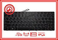 Клавиатура Lenovo IdeaPad V370 series черная с пурпурной рамкой RU/US