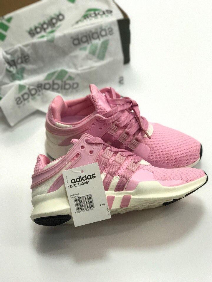 Кроссовки Adidas EQT Support ADV Pink/white. Живое фото. Топ качество! (Реплика ААА+)