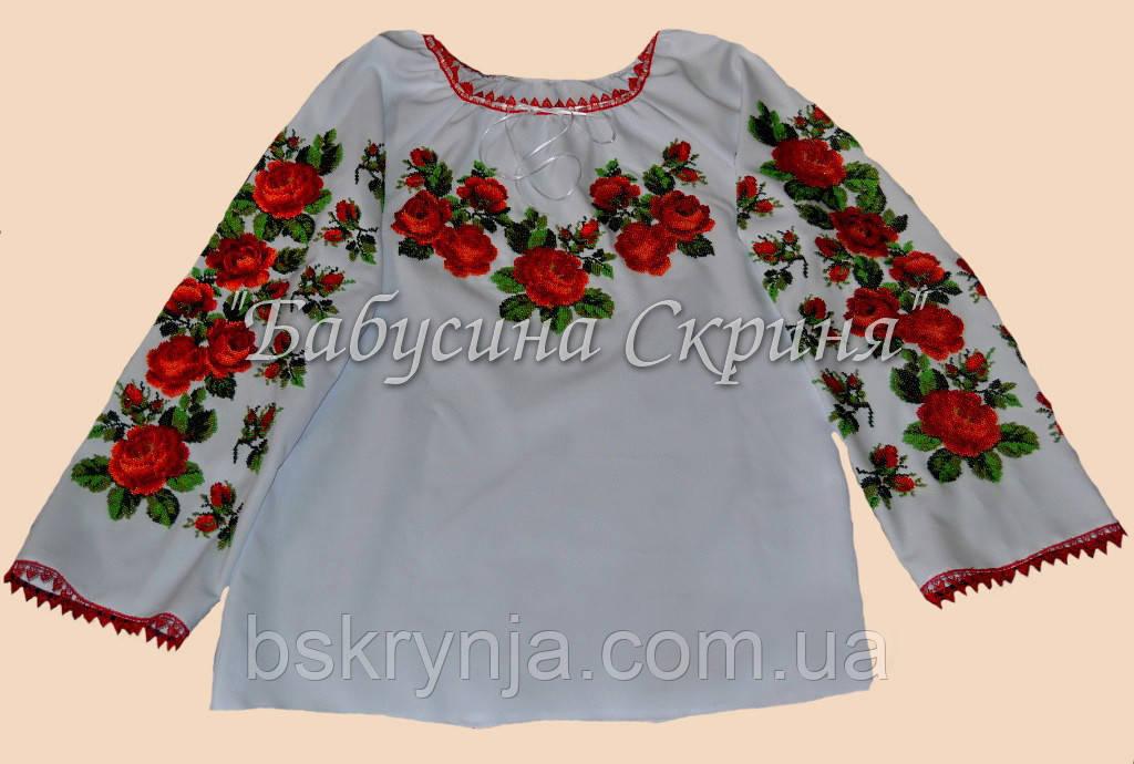 Заготівля жіночої сорочки для вишивки нитками/бісером БС-8