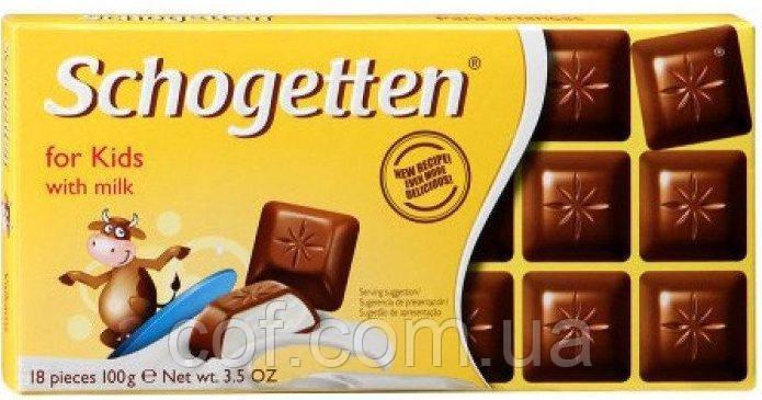 Шоколад молочный Schogetten for Kids with milk (Шогеттен Для детей) 100г (Германия)