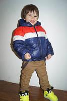 Куртка мальчик-девочка, Плащевка на 100 синтепоне, подкладка флис Малина и синий ао № 269