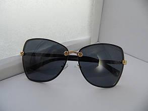 Солнцезащитные очки Gucci, цвет линз черный