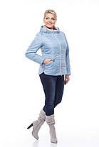 Голубая куртка весенняя больших размеров 50,52,54,56,58,60, фото 3