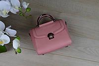 Розовая кожаная сумка VirginiaConti