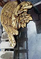 Накладка для памятника Ангел золотой из полистоуна