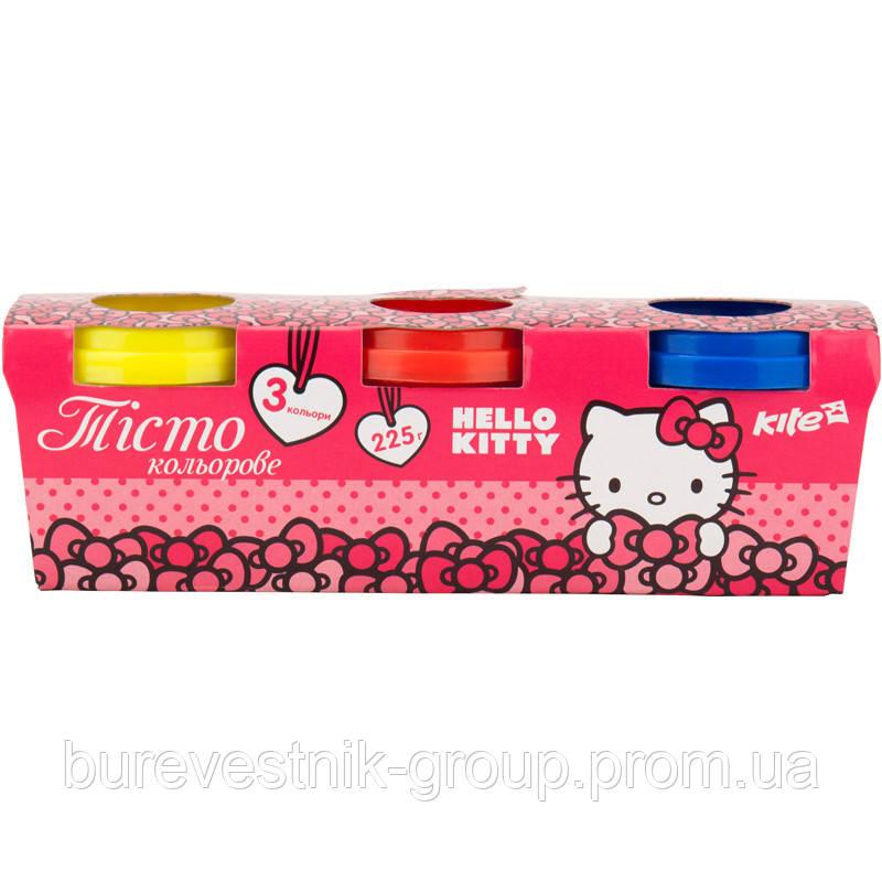 Цветное тесто для лепки Kite 3*75г Hello Kitty (HK17-151)