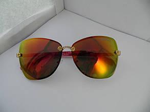 Солнцезащитные очки Gucci красно-оранжевые с красными дужками