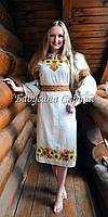 Заготовка жіночої сукні для вишивки нитками/бісером БС-30с