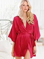 Женский атласный халат свободные рукава