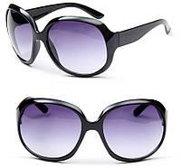 Очки солнцезащитные Chanel черная оправа, линза - фиолетовый градиент