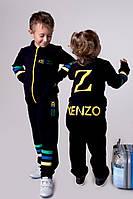 """Костюм """"KENZO"""" двухнить мальчик + девочка,лампасы на рукавах и брюках пришивные ленты, евлад №2208"""