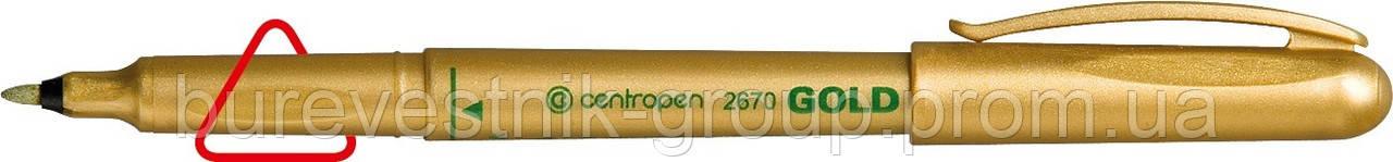 Маркер перманентный Centropen Gold (золото) 2670