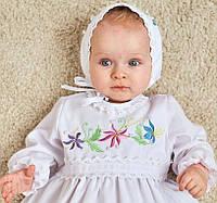 """Платье на крещения девочки """"Цветные лилии"""""""