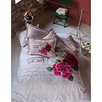 Постельное белье Karaca Home - Romance бежевое пано ранфорс евро