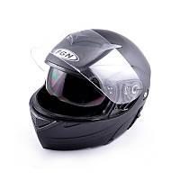 Шлем FGN трансформер с очками, черный матовый