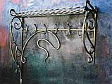 """Настенная кованая вешалка в прихожую из металла код """"1104"""", фото 2"""