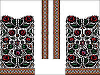 Заготовка Борщівської жіночої сорочки для вишивки нитками/бісером БС-96
