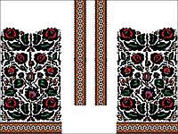 Заготовка Борщівської жіночої сорочки для вишивки нитками/бісером БС-96, фото 1