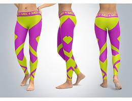 LEGGINGS Fit Girl Purple M