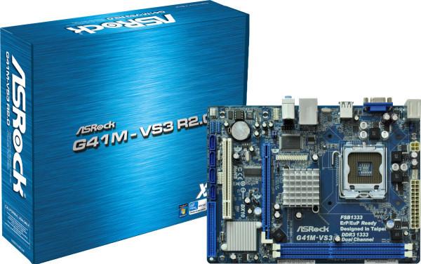 Материнская плата ASRock G41M-VS3 R2.0 iG41+ICH7, LGA 775, mATX