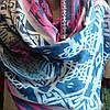 Палантин абстракция синего цвета абстракция , фото 2