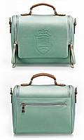 Винтажная женская сумка  светло-зеленый