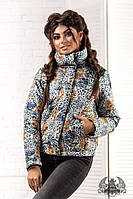 """Женская куртка """" Philipp Plein """",Цвет : принт как на фото Ткань : плотная плащевка , 150 синтепон роле № 2066"""