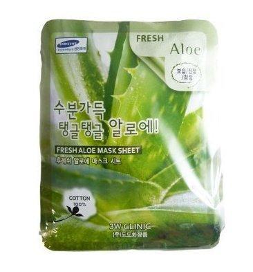 Тканевая маска 3W CLINIC Fresh Mask Sheet Aloe