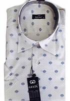 Мужская рубашка с коротким руковом-Gelix