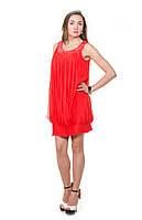 Платье коктейльное красное шифоновое Nui Shiman