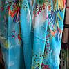 Снуд хомут голубого цвета с цветами шифон , фото 10