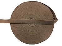 Тесьма сумочная, цвет бежевый, ширина 2,5 см (50м в рул. )