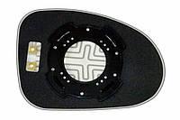 Элемент зеркала CHEVROLET Spark (05-09) левый сферический с обогревом