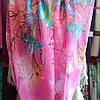 Снуд хомут шифон розового цвета с цветами , фото 3
