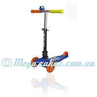 Детский трехколесный самокат Swift Scooter, синий: складной + регулируется высота руля + звоночек