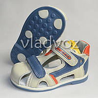 Босоножки сандалии для мальчика кожа бежевые 23р. Clibee