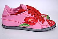 """Кеды """"Маки"""" IK-519 (розовый), фото 1"""