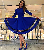 Платье Ткань дайвинг Турция, вставка- сетка черная, ширина юбки как на фото, 3 расцветки, сопт №086-320