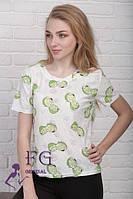 Женская футболка на лето из трикотажа