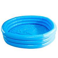 Бассейн круглый надувной Intex 58446, детский, три камеры-кольца, винил, плоское дно, 630 л, 168х41 см