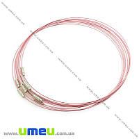 Основа для колье Чокер, Розовая, 44 см, 1 шт (OSN-020000)