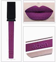 "Губная помада жидкая Liquid lipstick Aden ""Purple"" ""Пурпурный"" № 26"