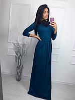 Платье вечернее длинное ткань Джерси,отделка набивное кружево, 3 расцветки ,фото реал ,псав № 50014